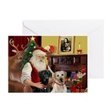 Labrador christmas Greeting Cards (20 Pack)