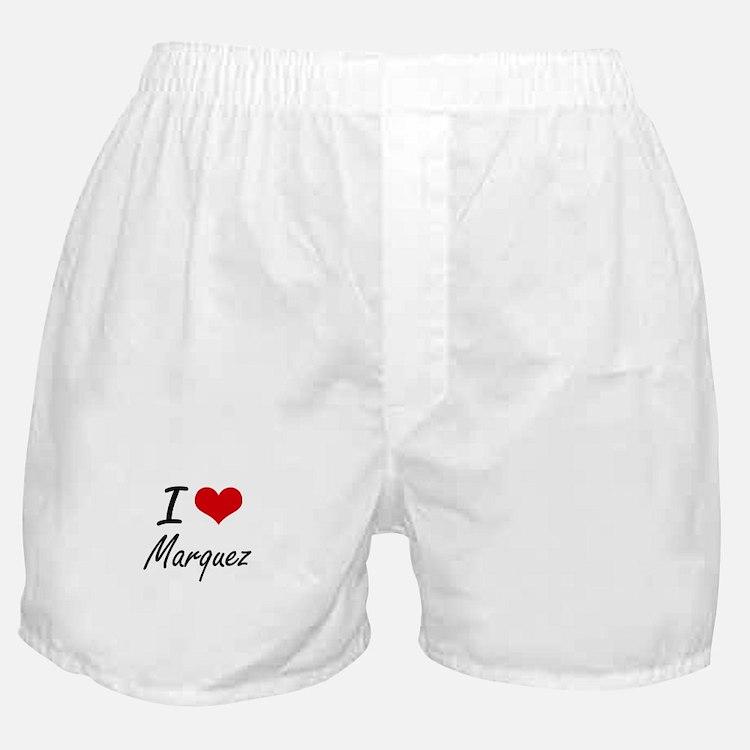 I Love Marquez artistic design Boxer Shorts