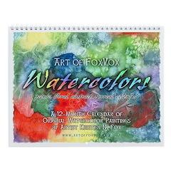 Art of FoxVox Watercolors Wall Calendar