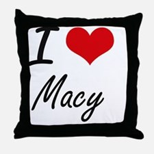 I Love Macy artistic design Throw Pillow