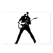 guitarist musician Postcards (Package of 8)