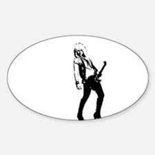 sexy guitar lady Decal