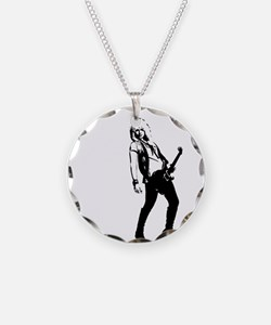 sexy guitar lady Necklace