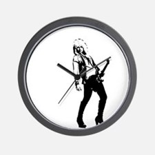 sexy guitar lady Wall Clock