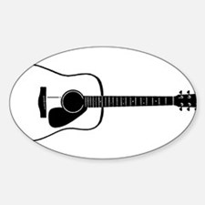 Acoustic Guitar t-shirt Decal