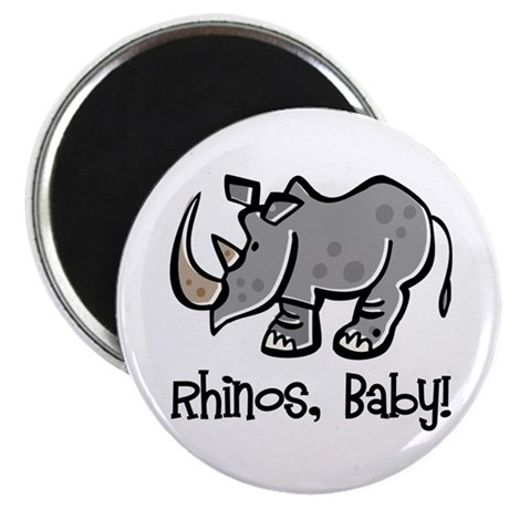 Rhinos, Baby! Magnet
