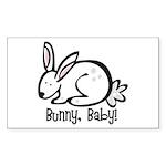 Bunny, Baby! Rectangle Sticker