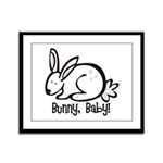 Bunny, Baby! Framed Panel Print
