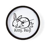 Bunny, Baby! Wall Clock