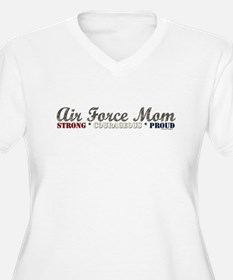 Air Force Mom:Strong Courageo T-Shirt