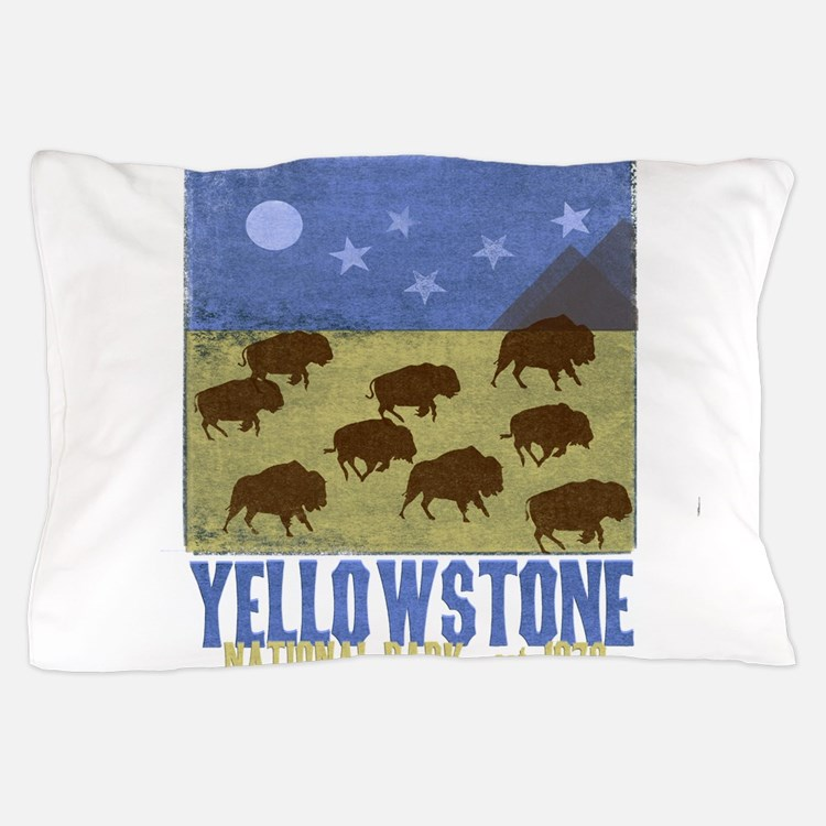 Yellowstone Bison Scene Pillow Case