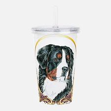 Bernese Mountain Dog H Acrylic Double-wall Tumbler