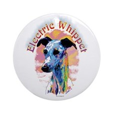 Electric Whippet Round Ornament