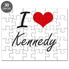 I Love Kennedy artistic design Puzzle