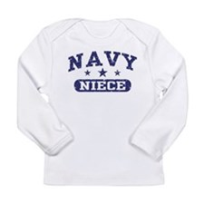 Cute Navy niece Long Sleeve Infant T-Shirt