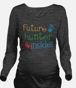 Cute Hunter Long Sleeve Maternity T-Shirt