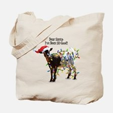 Christmas Goat I've Been So Good Tote Bag