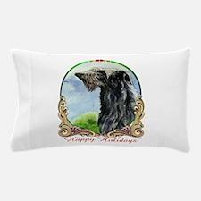 Scottish Deerhound Happy Holidays Pillow Case