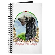 Scottish Deerhound Happy Holidays Journal