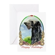 Scottish Deerhound Happy Holidays Greeting Card