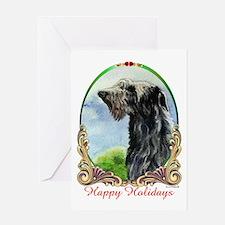 Scottish Deerhound Happy Holidays Greeting Card