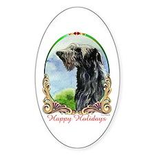 Scottish Deerhound Happy Holidays Decal