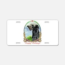 Scottish Deerhound Happy Ho Aluminum License Plate