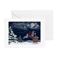White Rabbit Christmas Greeting Cards (pk Of 10)