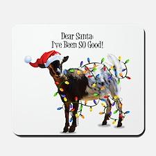 Christmas Goat I've Been So Good Mousepad