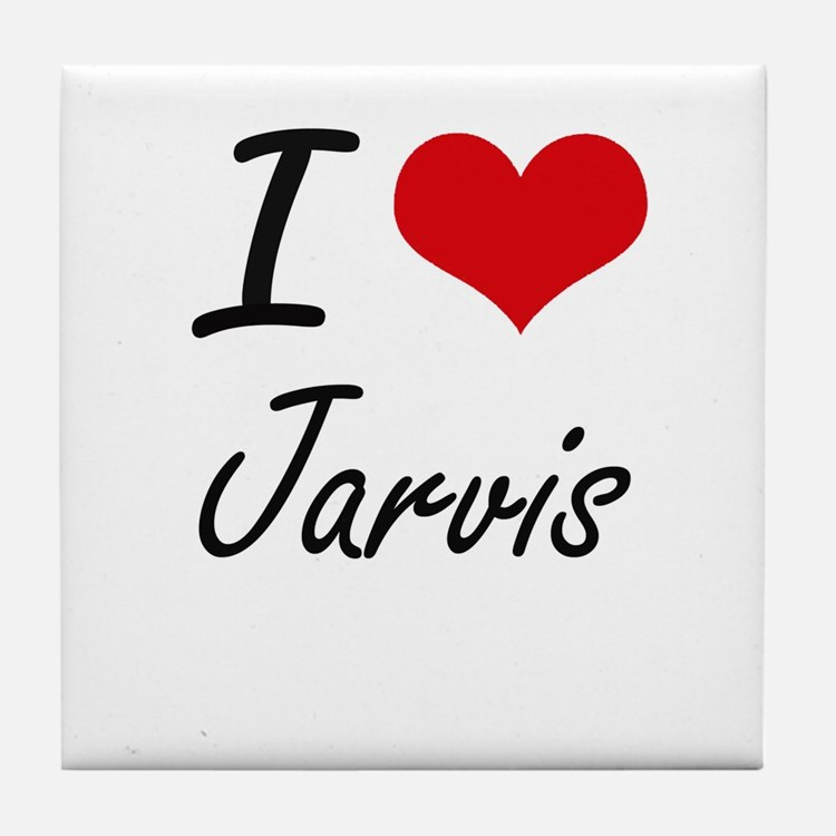 I Love Jarvis artistic design Tile Coaster