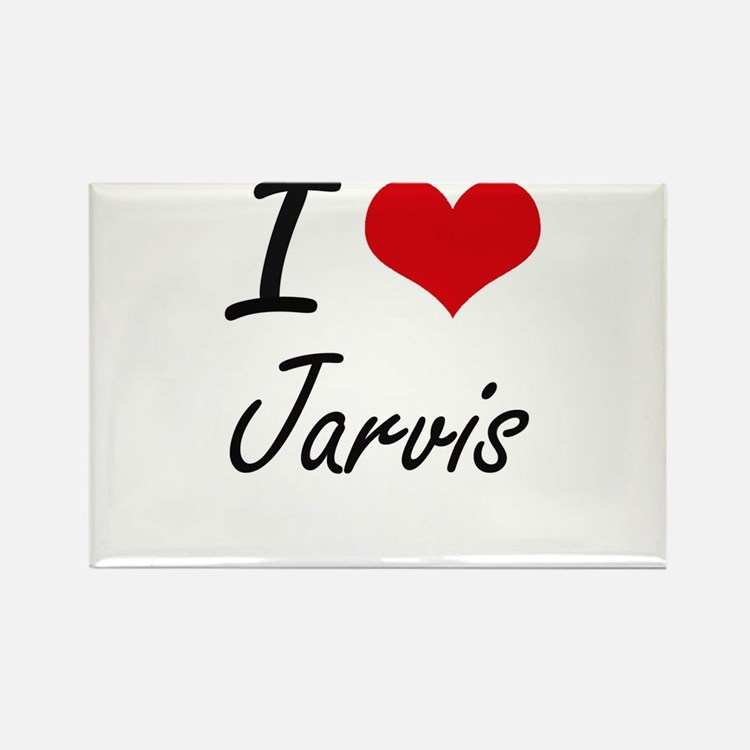 I Love Jarvis artistic design Magnets
