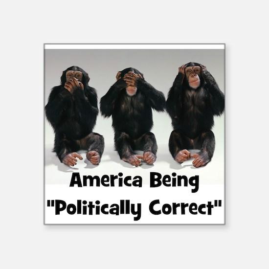 America Being Politically Correct Sticker