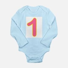 Cute One candle Long Sleeve Infant Bodysuit