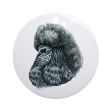Black Poodle Round Ornament