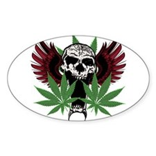 Weed Skull Decal