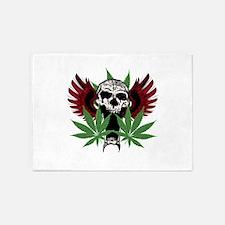Weed Skull 5'x7'Area Rug