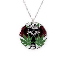 Weed Skull Necklace