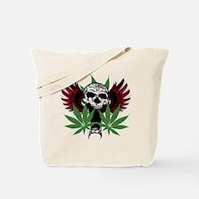 Weed Skull Tote Bag