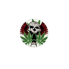 Weed Skull Mini Button