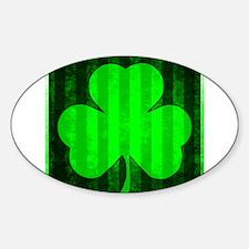 IRISH THREE LEAF CLOVER VERTICAL STRIPE Decal