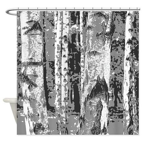 Design 14 Birch Trees Shower Curtain
