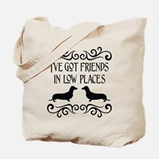 Friends In Low Places Dachshund Blk Tote Bag