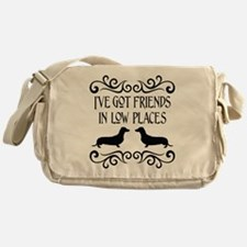Friends In Low Places Dachshund Blk Messenger Bag