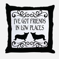 Friends In Low Places Cardigan Throw Pillow