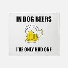 Dog Beers Throw Blanket