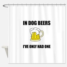Dog Beers Shower Curtain