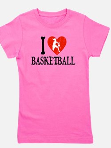 Cute Basketball heart Girl's Tee