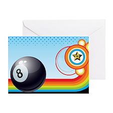 Cute Billiards Greeting Card