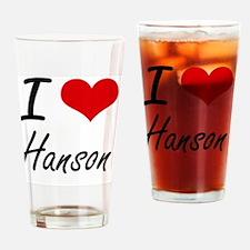 I Love Hanson artistic design Drinking Glass