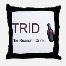 TRID Bottle Throw Pillow